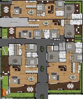 2D Colour site plan and floor plans for a development project Mt Martha Victoria. 8 unit, apartment, townhouse development