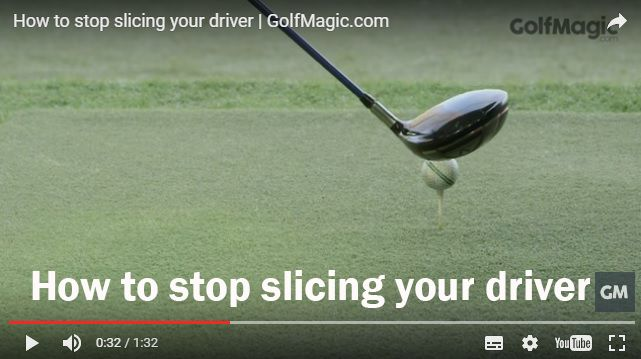 How to stop slicing your driver #golf #golfmagic #golftips