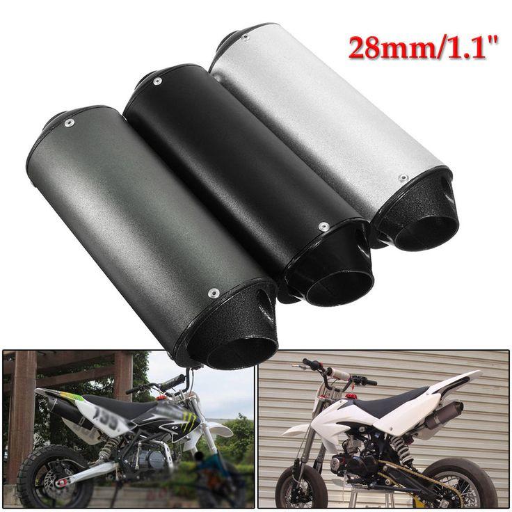 28mm Muffler Exhaust Pipe & Clamp PIT Bike PRO Quad Dirt ATV 50/110/125/150cc
