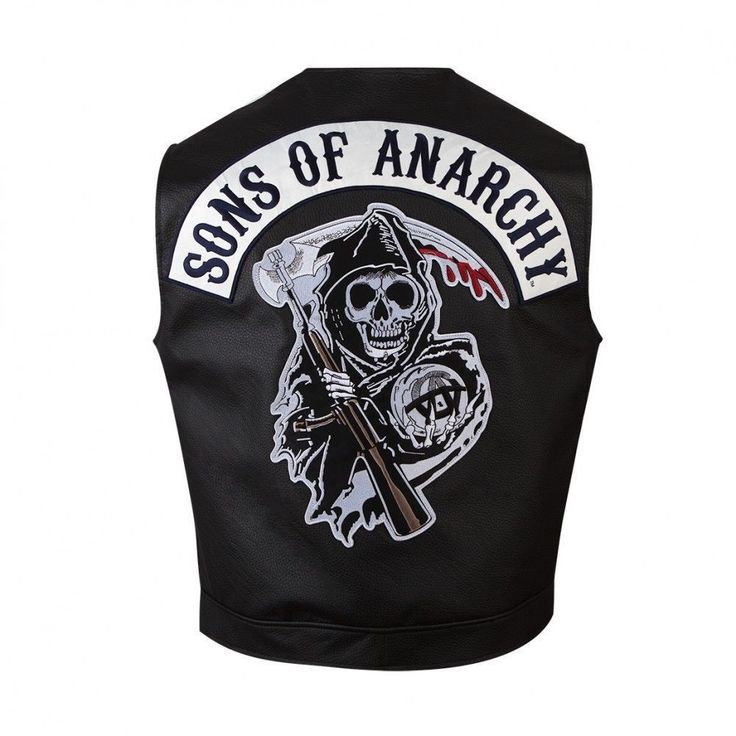 Sons of Anarchy vest jacket is replica of jacket worn by biker gang in Son Of Anarchy TV drama. This fabulous biker vest jacket is must have a piece in your wardrobe. Sons of Anarchy SOA black motorbiker leather vest jacket. | eBay!