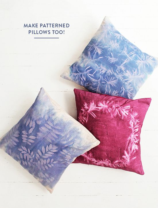 DIY: sunprint pillows | designlovefest