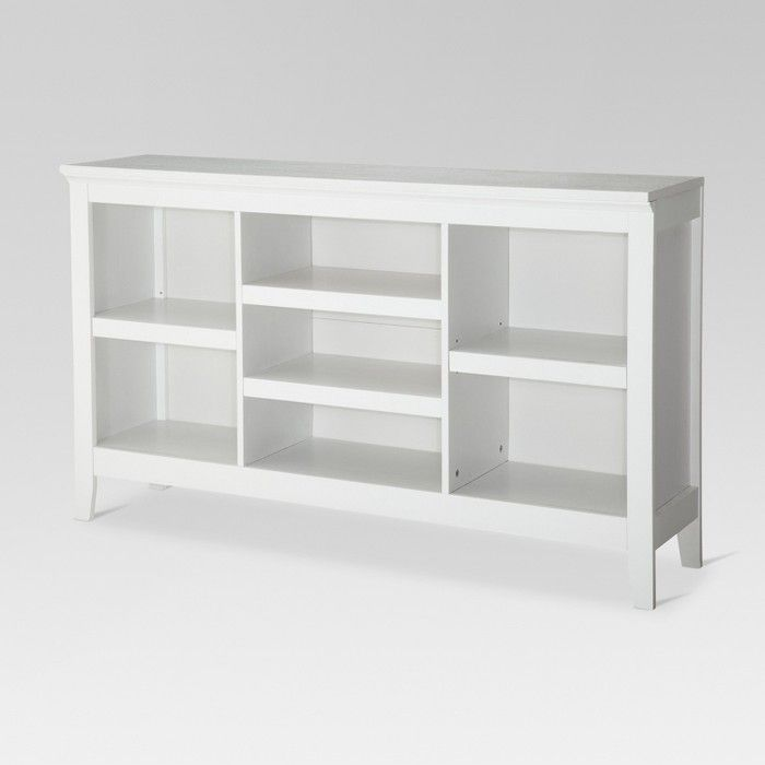 32 Carson Horizontal Bookcase With Adjustable Shelves Threshold Horizontal Bookcase White Bookcase Adjustable Shelving