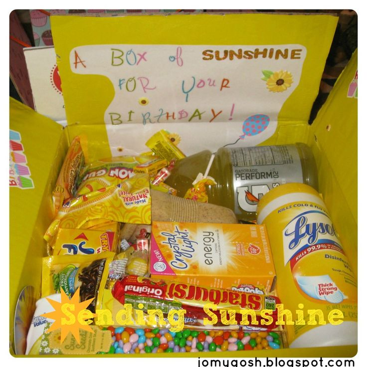17 Best Ideas About Sunshine Care Package On Pinterest