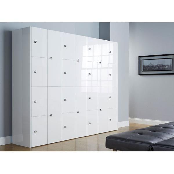 Single Door High Gloss Office Lockers - 3D Lockers