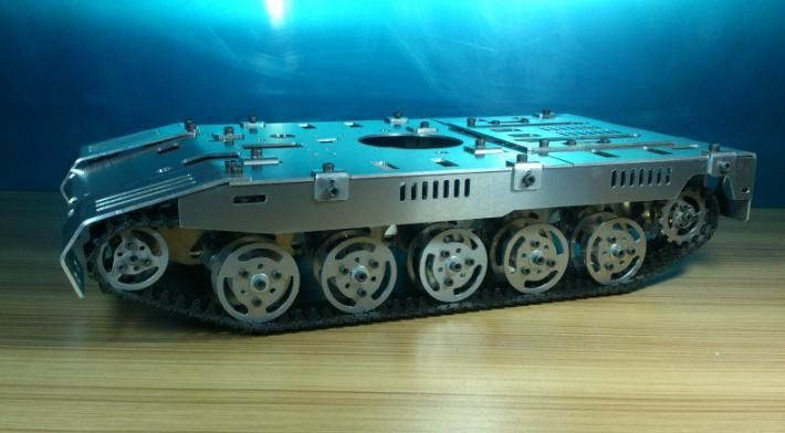 380.00$  Buy here - http://alizv3.worldwells.pw/go.php?t=32339694562 - WST Oversized model tank chassis independent suspension damping chassis for crawler robot Remote control model tanks