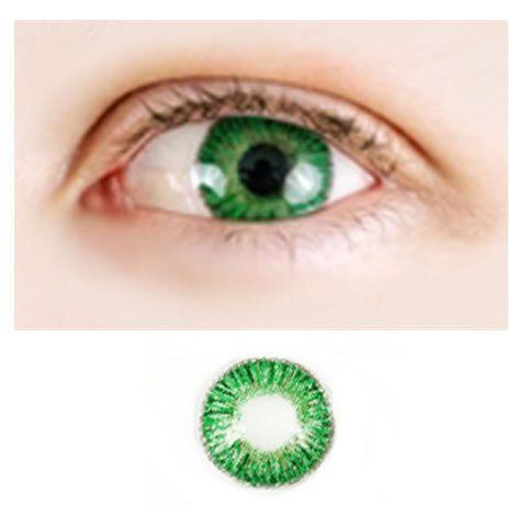 Magic Eye 3-tone -Fantasy Green -Värilliset Piilolinssit -1 vuosi   Cybershop