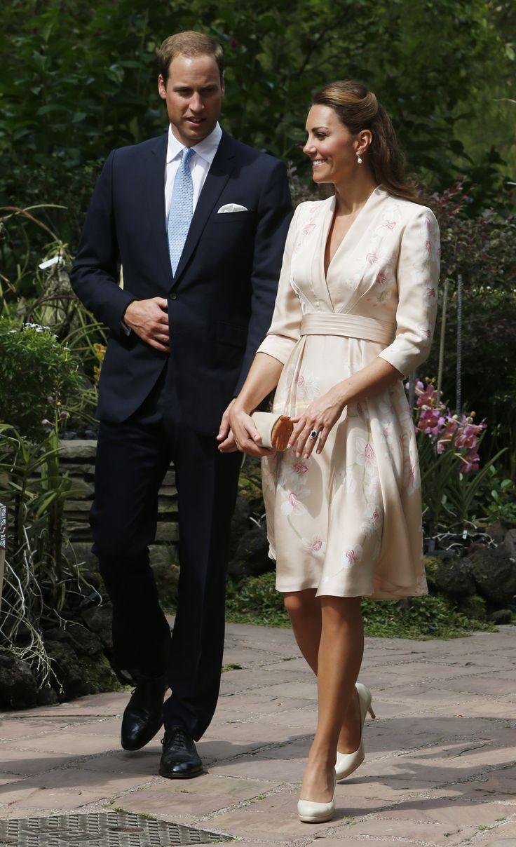 William & Kate - Jenny Packham Floral Kimono Dress - Singapore Botanic Gardens - 11 Sep 2012