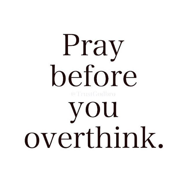 Follow @persecutedthemovie Pray before you overthink it!