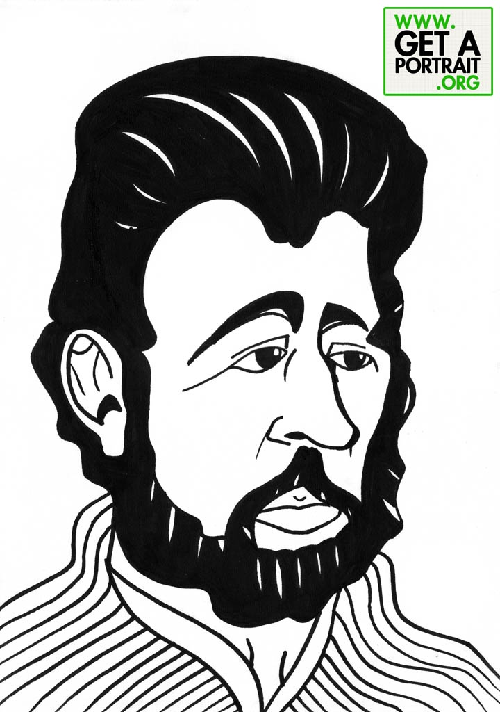 Caricature of Ion Creanga, Romanian writer — Get a high quality PORTRAIT or CARICATURE from a pro, for an unbeatable price! http://GetAPortrait.org