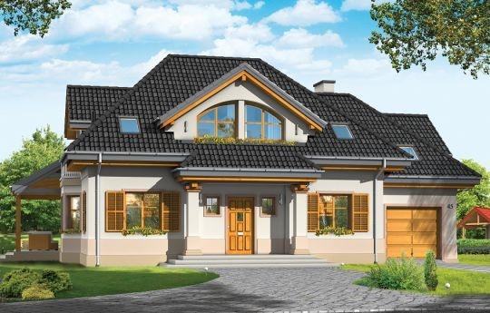 Projekt Rubin 3 to wariantowa wersja popularnego projektu Rubin. W stosunku do wersji podstawowej projektu dom Rubin 3 jest pomniejszony, ma jednostanowiskowy garaż oraz zabudowaną pustką nad pokojem dziennym na poddaszu. Dom przeznaczony jest dla pięcio - sześcioosobowej rodziny. Parterowa bryła z poddaszem użytkowym, składa się z części mieszkalnej i dobudowanego z boku garażu. Całość budynku przekryta jest wielospadowym dachem, z dużymi lukarnami na każdej elewacji.