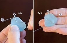 One way to wrap sea glass or a stone/bead without a hole