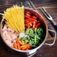 Einfache Blitz Hendl Pasta für die ganze Familie. Gesund und lecker