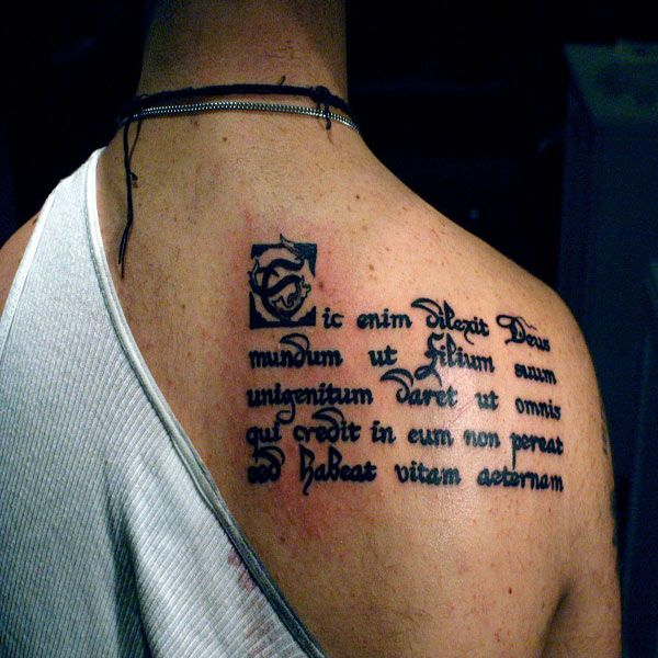 21 best tattoo designs for men images on pinterest for Latin scripture tattoos