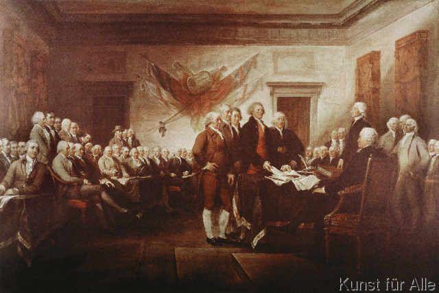John Trumbull - Unabhängigkeitserklärung USA / Trumbull
