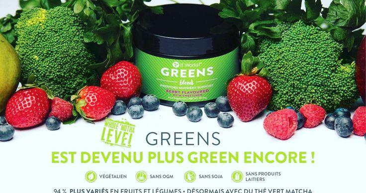 Le Greens 💚 Contient un mélange de 50 herbes naturelles et de 33 fruits et légumes 🍏🍎🍐🍊🍋🍈🍓🍇🍉🥕🥒🥦🍅 Rien de mieux pour booster ton énergie pour une journée au 🔝 #Greens#TropBon#Energie#journeeautop#bienetre#boissons Contacter moi