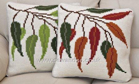 Seasonal Leaves Cushion Front