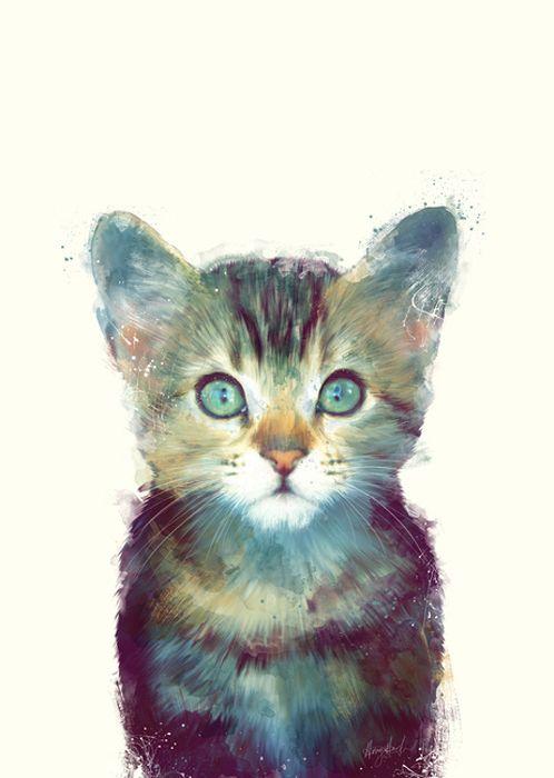 Amy Hamilton CAT // AWARE #art #illustration