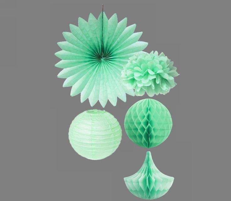 5 pcs de Kit de lenço de papel Pom Poms / fãs de gotas de papel / decoração de casamento de papel macio em Flores & coroas decorativas de Casa & jardim no AliExpress.com | Alibaba Group