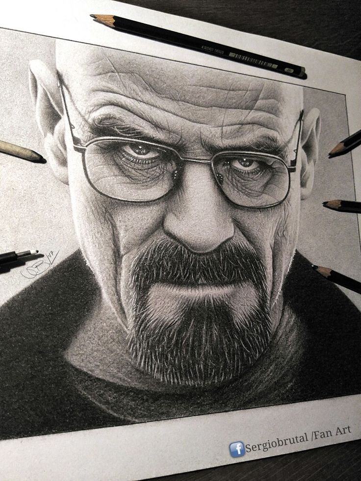 Walter White Drawing Pencil