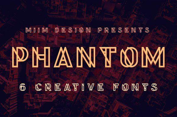 Phantom - Display Font by MIIM on @creativemarket