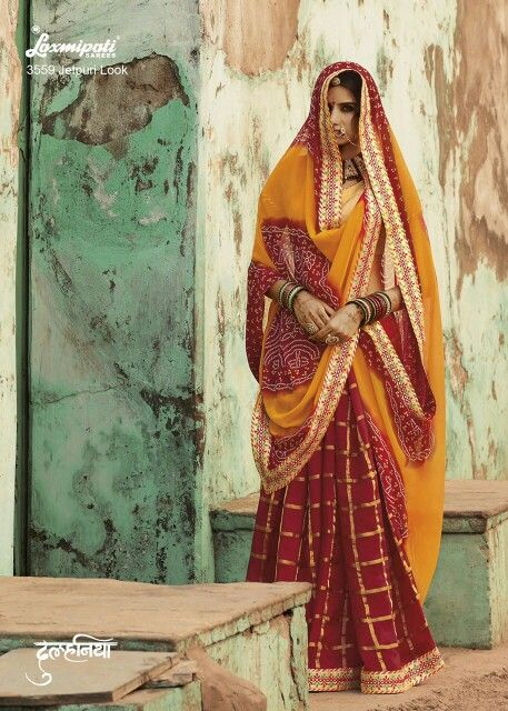 Laxmipati dulhania bandhni collection Material Georgette  Ready for dispatch