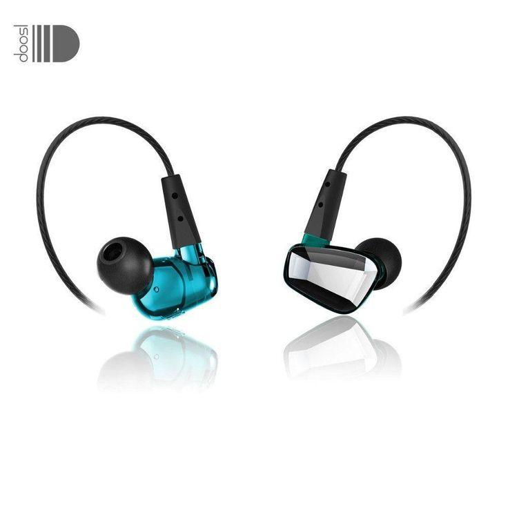 Stereo In-Ear Dynamic Earphones Crystal Style Music Noise Cancelling In-Ear