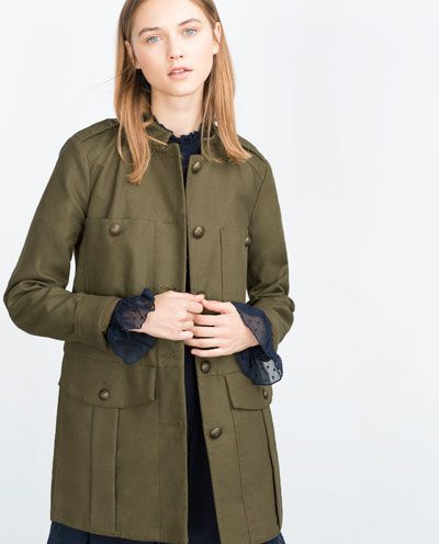 Image 1 of MILITARY JACKET from Zara