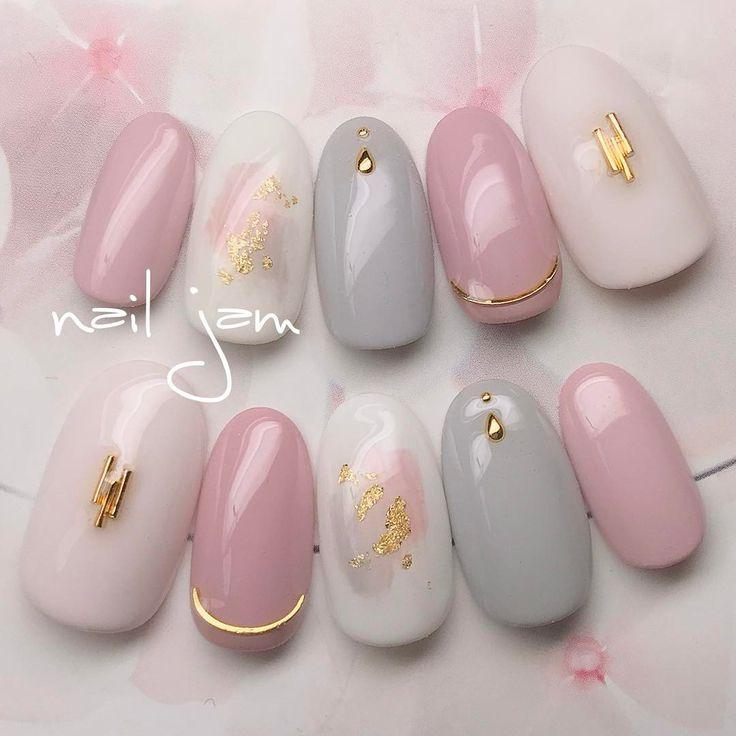 """304 Likes, 5 Comments - ↞↞Asami.Ichikawa↠↠ (@a.nailjam) on Instagram: """"#nails#nailstagram#gelnails#nailart#naildesign#fashion#beauty#photography#pinknails#nailjam#nailbook#ネイル#ネイルデザイン#お花ネイル#春ネイル#ピンクネイル#ネイル#シェルネイル#ニュアンスネイル#上品ネイル#シンプルネイル#オフィスネイル#パーティーネイル#ブライダルネイル#トレンドネイル#ネイルチップ販売#金箔ネイル"""""""