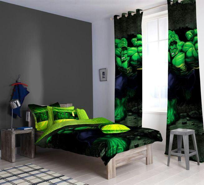 Hulk themed room  Kids Bedroom Ideas  Marvel bedroom