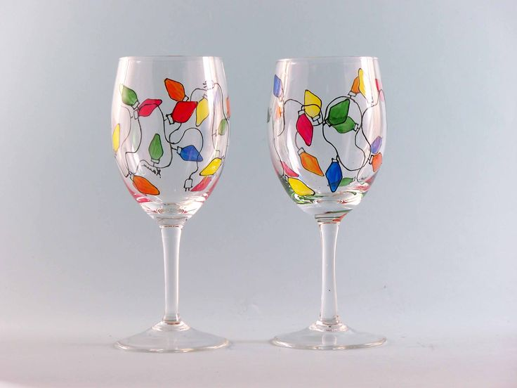 1000 images about christmas wineglasses on pinterest for Christmas painted wine glasses pinterest