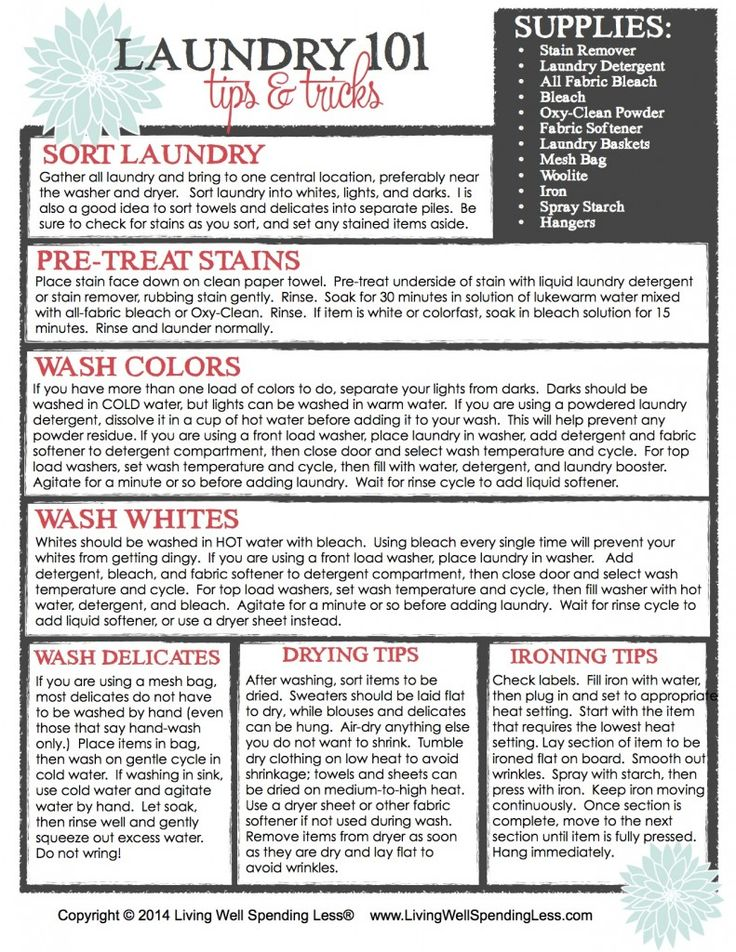 The Beginner's Guide to Cleaning: Part 7 | Laundry 101 | Laundry Tips