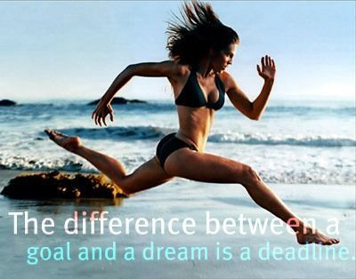 The difference between a goal and a dream is a deadline..