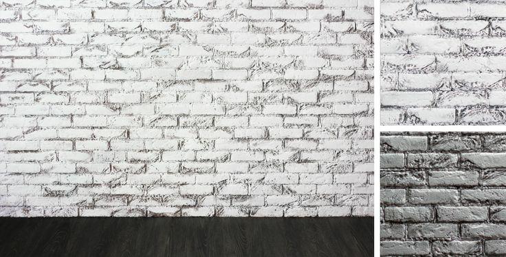 Стена с натуральной кирпичной кладкой (беленая), длина 3 м. #fafastudio #photoshoot #backdrop #brick #white #wall