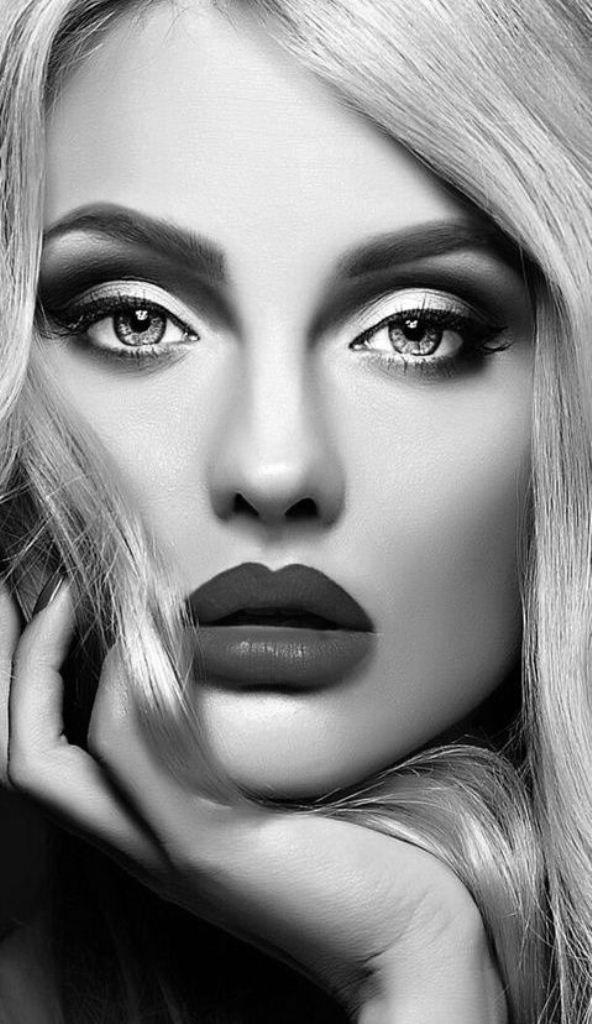 Black White Photos Black And White Makeup White Makeup Photoshoot Makeup