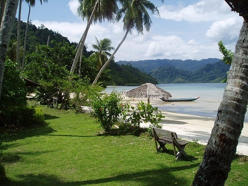 """Pulau Cubadak or Cubadak Island is one of many inhabitant small islands in West Sumatera, 24 miles away from Padang shores. The island is 5,749 km square and located at 1000m above sea level. Local people say that there was a 40 km square crater here. """"Cubadak"""" is derived from Minang language which means jackfruit. http://www.goindonesia.com/id/hotels/indonesia/sumatra/padang/objek_wisata/pulau_cubadak"""