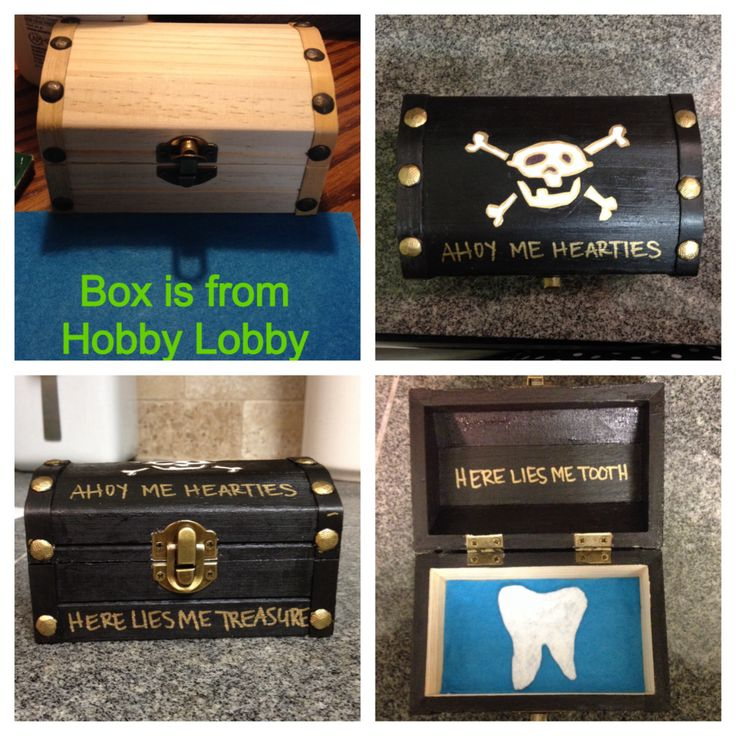 Tooth fairy box for boys. I made this for Luke! :)