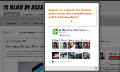 Plugin Facebook Like per Blogspot