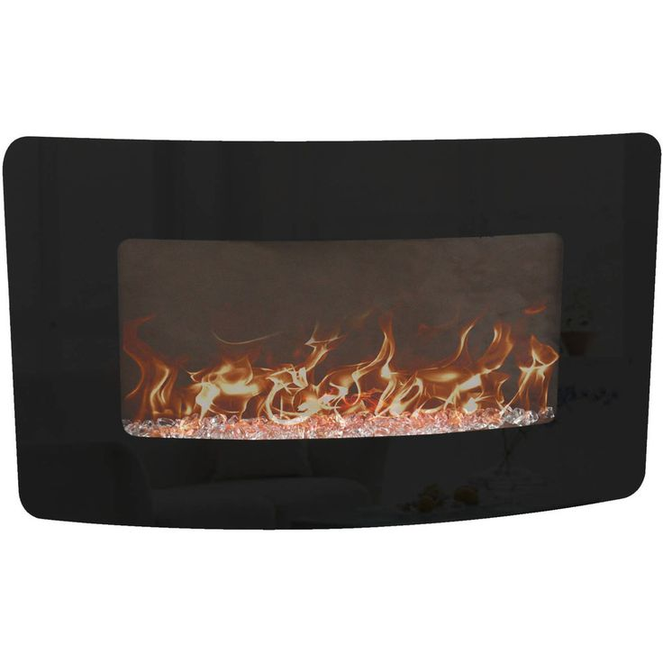 "35"" Wall-Mounted Fireplace Electric with Remote  #DECORFLAME"