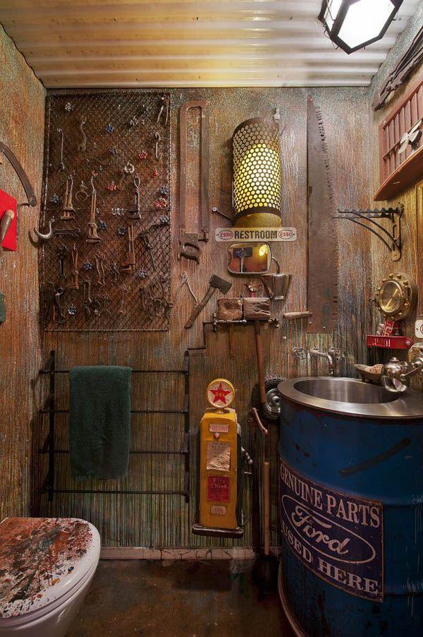 31 best man cave garages images on pinterest home ideas bathrooms and atelier. Black Bedroom Furniture Sets. Home Design Ideas