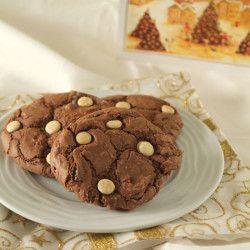 Σοκολατένια μπισκότα με ζαχαρούχο γάλα και σταγ...