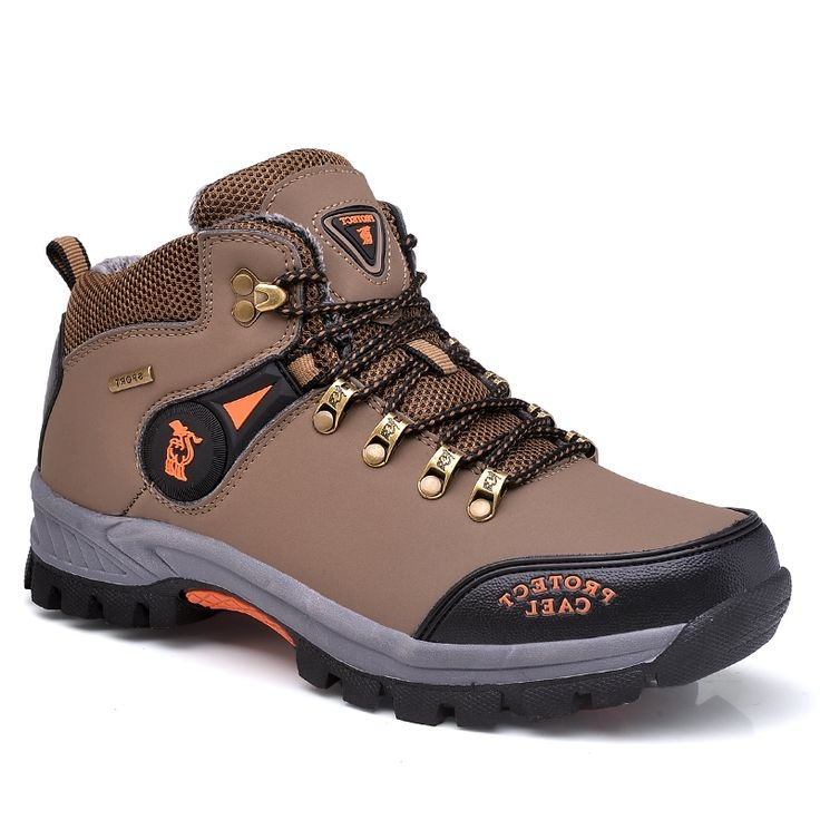 34.90$  Buy here - https://alitems.com/g/1e8d114494b01f4c715516525dc3e8/?i=5&ulp=https%3A%2F%2Fwww.aliexpress.com%2Fitem%2FWalking-Shoes-For-Man-Big-Size-Men-Trekking-Shoes-Leather-Men-Mountain-Boots-Fur-Inside-Hunting%2F32783360013.html - Walking Shoes For Man Big Size Men Trekking Shoes Leather Men Mountain Boots Fur Inside Hunting Boots Men Winter Walking Boots