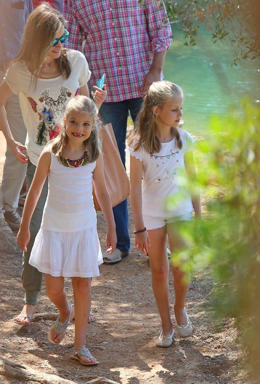 Princesa de Asturias e infanta Sofía en Mallorca. Verano 2014