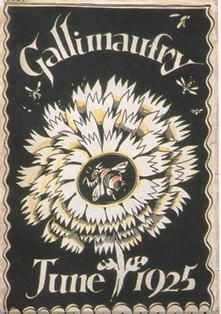 """Cover design by Eric Ravilious for """"Gallimaufry"""", the student magazine of the Royal College of Art, 1925"""