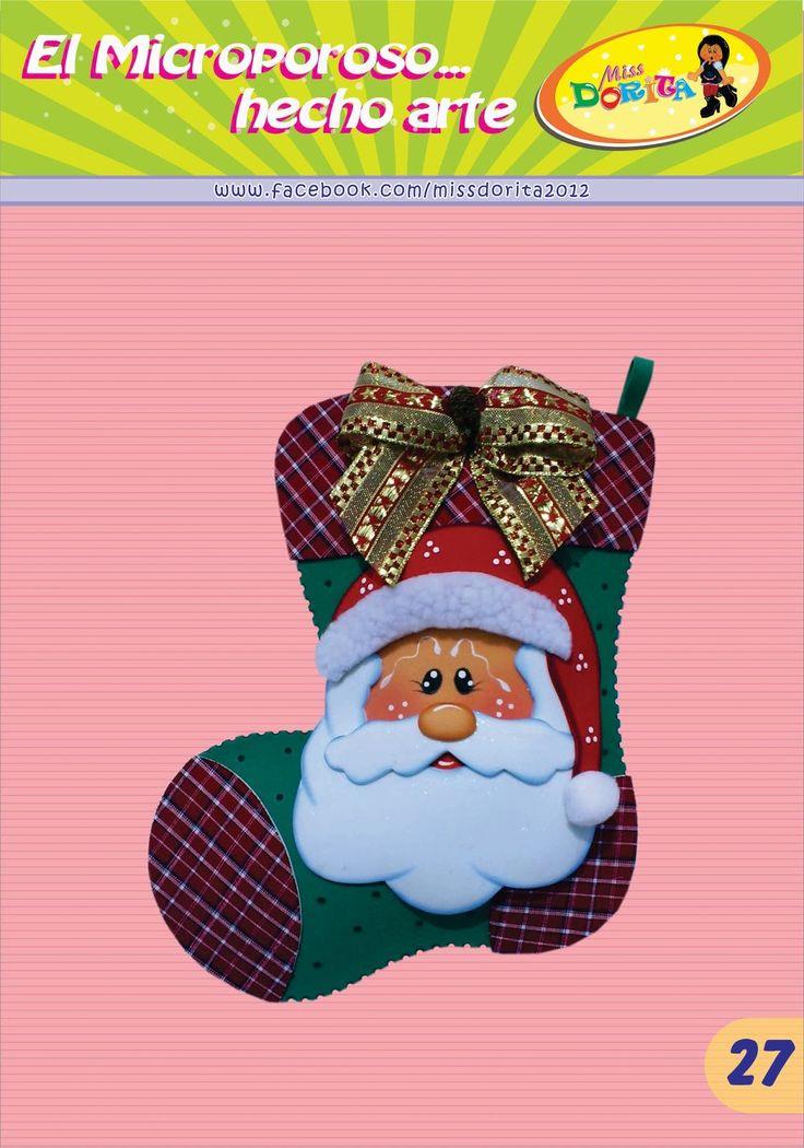 Aprovechemos esta Navidad para tener una entradita extra, asi es  que aqui les traigo otro modelo de bota navideña para adormar sus  hogares...