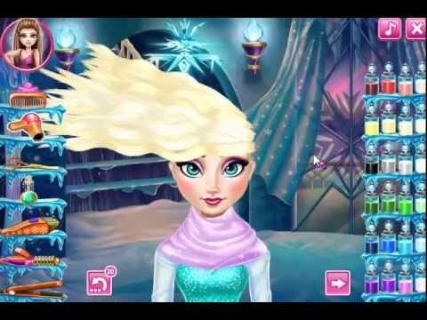 Juegos Friv Elsa Frozen Real Haircuts - YouTube