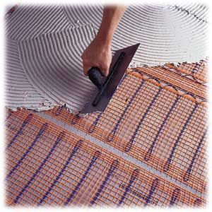 Under tile floor heating cost gurus floor for Radiant heat flooring options