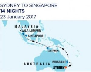 14 night Syndey to Singapore - 23 January 2017 - Ovation of the Seas RC