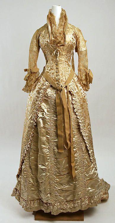 ca. 1880 Wedding ensemble, silk, leather, & beads