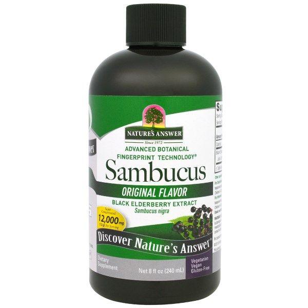 Nature's Answer, Sambucus, Black Elderberry Extract, Original Flavor, 12,000 mg, 8 fl oz (240 ml)