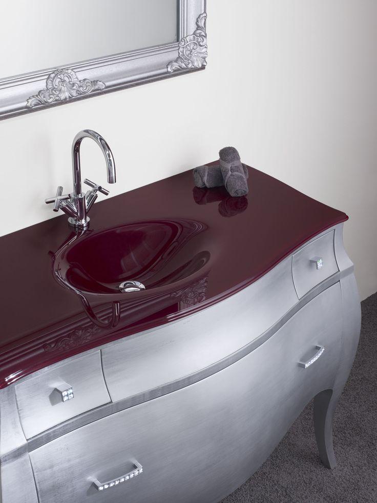 Mader mod lucrecia mueble del estilo luis xv en color - Encimeras de cristal ...